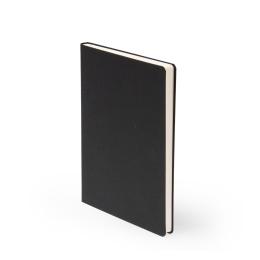 Notizbuch LEINEN schwarz | DIN A 5, 96 Blatt liniert