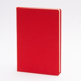 Notizbuch LEINEN rot | DIN A 5, 96 Blatt blanko