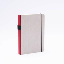 Notizbuch MINIMALIST GREY dunkelrot | DIN A 5, 144 Blatt Punktraster