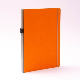 Notizbuch NEW GENERATION orange | DIN A 4, 96 Blatt liniert