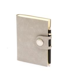 Notizbuch NOX grau | 12 x 16,5 cm, 144 Blatt blanko
