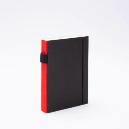 Notizbuch PURIST rot | 12 x 16,5 cm, 144 Blatt blanko