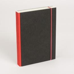 Notizbuch PURIST rot | DIN A 4, 96 Blatt liniert