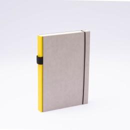 Notizbuch PURIST GREY gelb | DIN A 5, 144 Blatt blanko