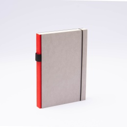 Notebook PURIST GREY red | A5, 144 sheet lined