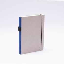 Notizbuch PURIST GREY blau | DIN A 5, 144 Blatt Punktraster