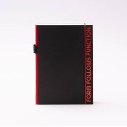 Notizbuch PURIST QUOTES rot | DIN A5, 144 Blatt blanko