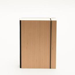 Notizbuch PURIST WOOD Kirsche | 12 x 16,5 cm, 144 Blatt blanko