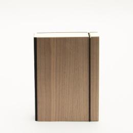Notizbuch PURIST WOOD Nuss | 12 x 16,5 cm, 144 Blatt blanko