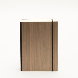 Notizbuch PURIST WOOD Nuss | 12 x 16,5 cm, 144 Blatt liniert