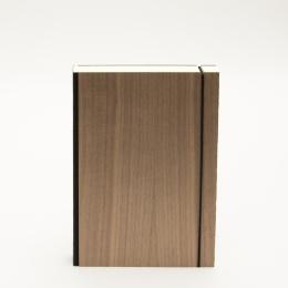 Notizbuch PURIST WOOD Nuss | DIN A 5, 144 Blatt liniert