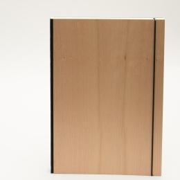 Notizbuch PURIST WOOD Kirsche | DIN A 4, 96 Blatt blanko