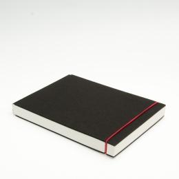 Skizzenbuch INSPIRATION Gummi rot | DIN A 5, quer, 96 Blatt blanko 160 g