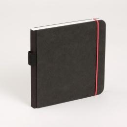 Skizzenbuch SCRIBBLE Gummi rot | 13 x 13 cm, 48 Blatt blanko