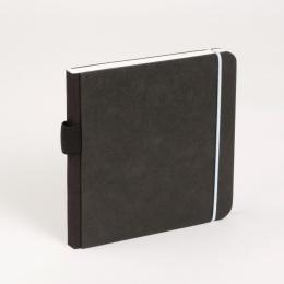 Skizzenbuch SCRIBBLE Gummi hellblau | 13 x 13 cm, 48 Blatt blanko