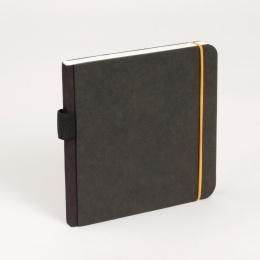 Skizzenbuch SCRIBBLE Gummi orange | 18 x 18 cm, 48 Blatt blanko