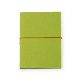 Wochenplaner + Notizen FILZDUETT Filz hellgrün/Gummi orange